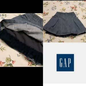 4/$15 Size 4T  Gap blue jean crinoline skirt